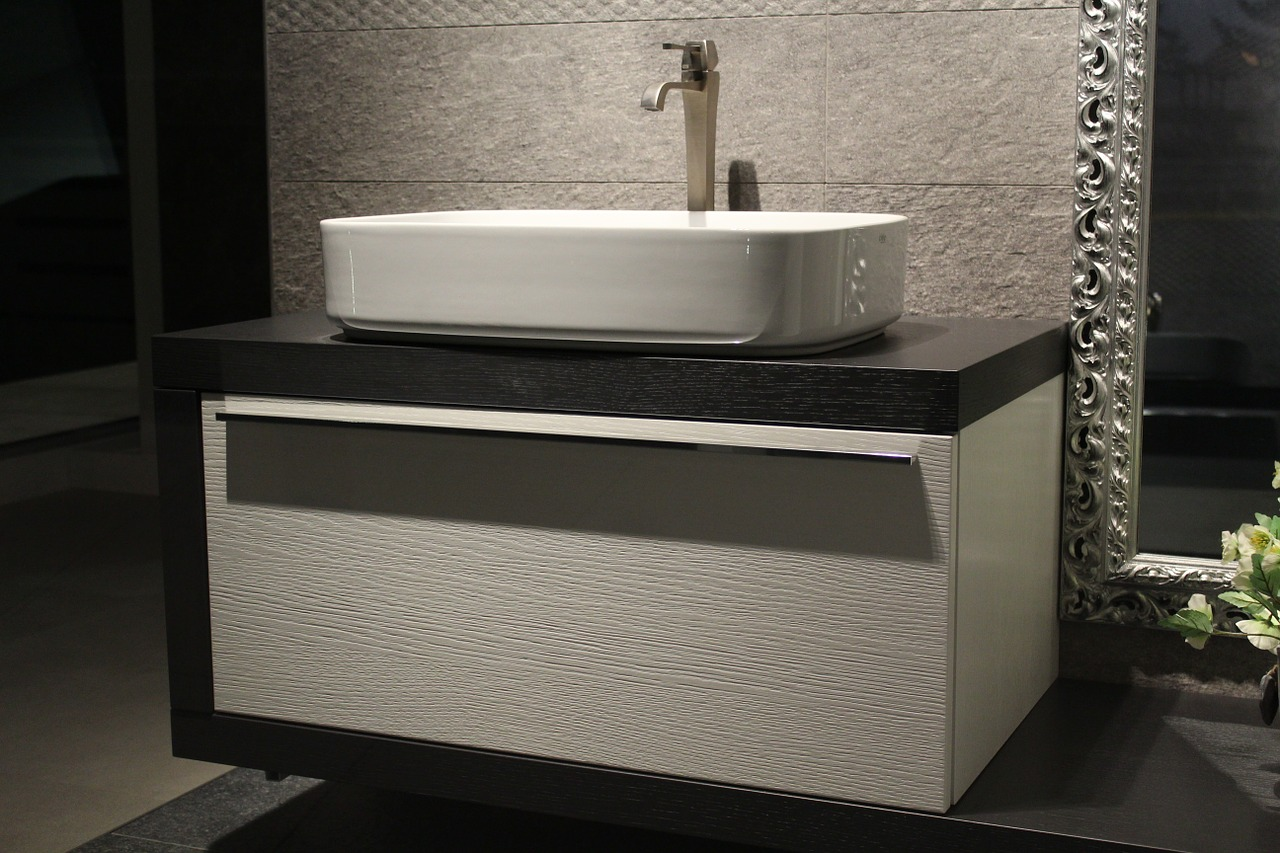 floating bathroom cabinetry