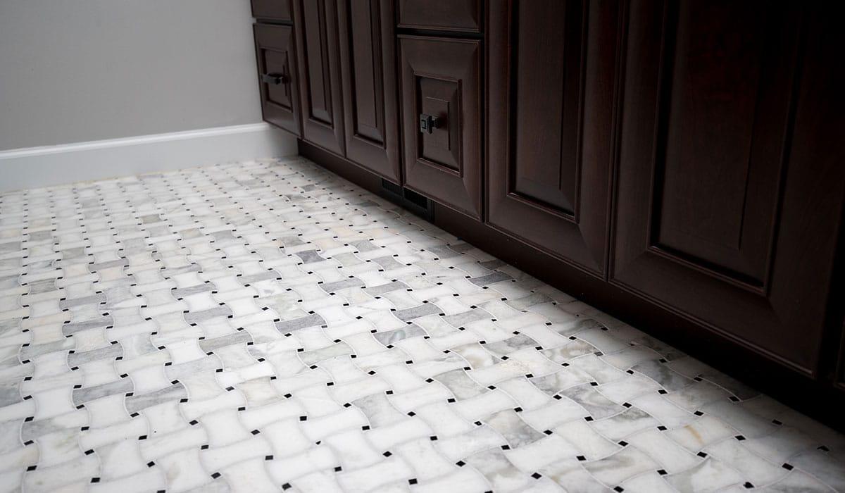 bathroom remodel steps flooring