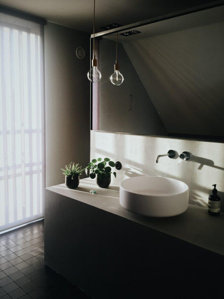 mood lighting in bathroom