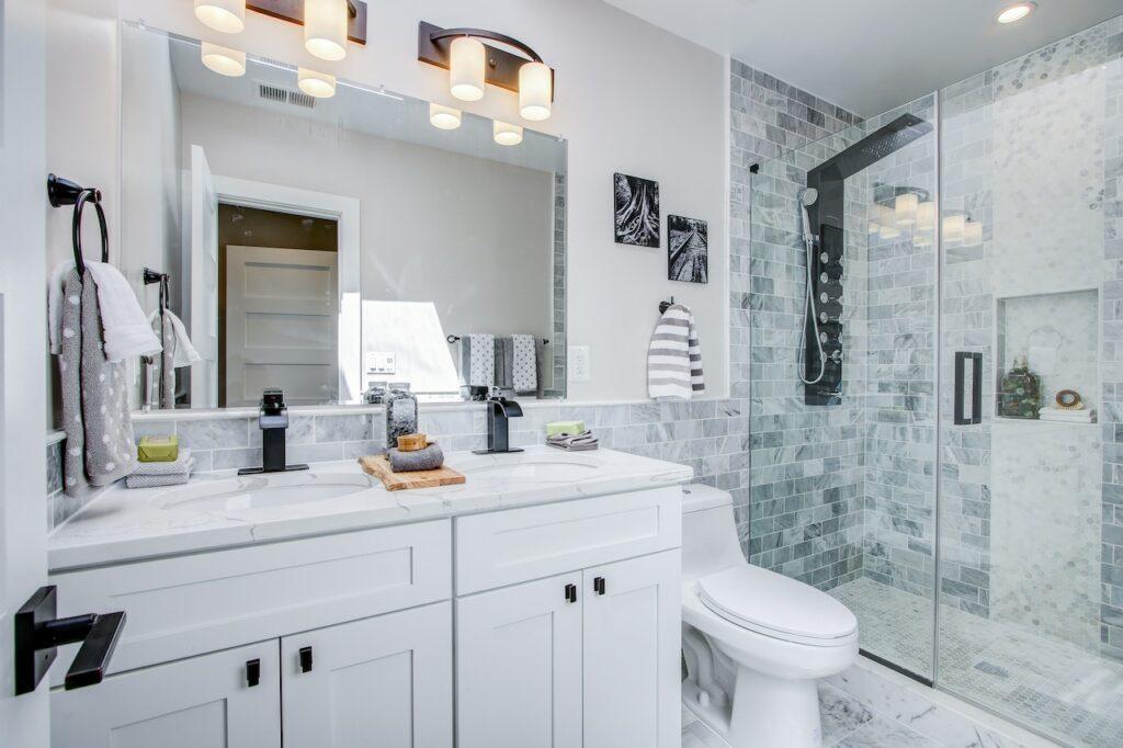 length bathroom remodel