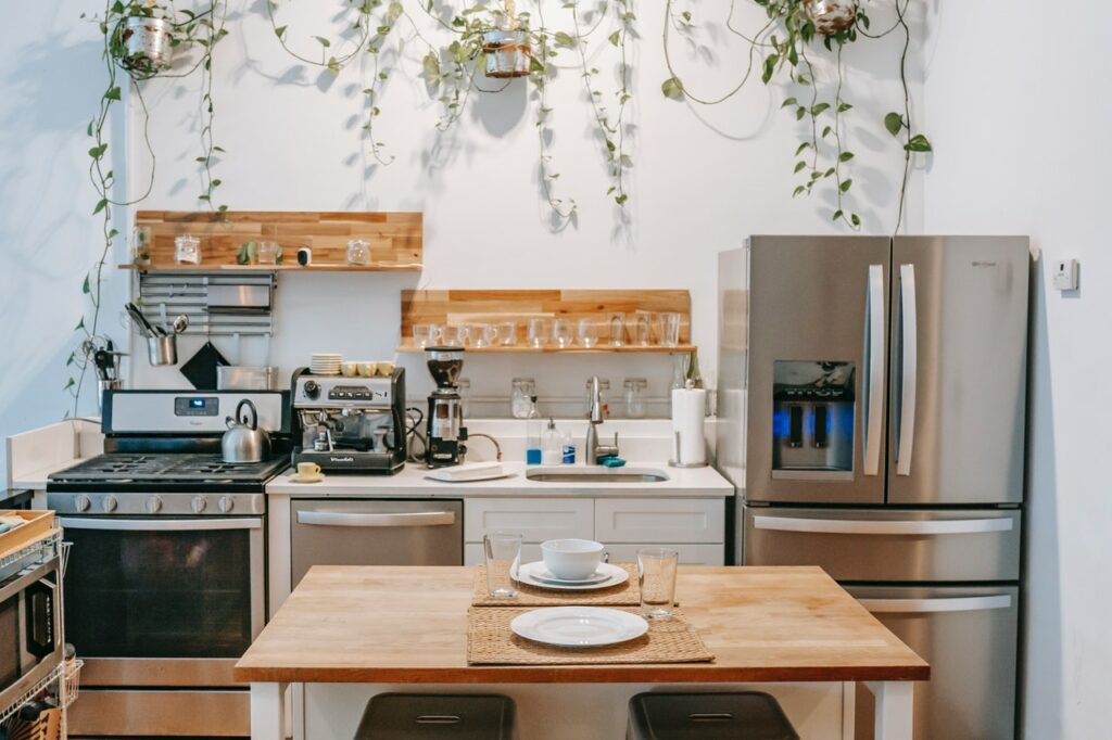 plants boho kitchen remodel ideas